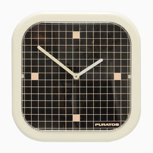 Geometric Wall Clock from Puratos, 1980s