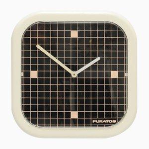 Orologio da parete geometrico di Puratos, anni '80