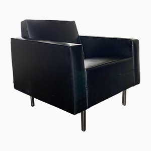 Modernist Black and Chrome Lounge Chair, 1950s