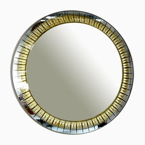 Brass and Cut Glass Cristal Art Mirror, 1960s