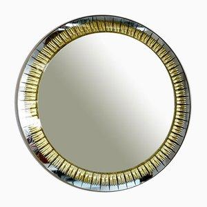 Specchio Cristal Art in ottone e vetro, anni '60