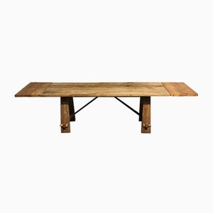 Bleached Oak Farmhouse Dining Table with Extensions