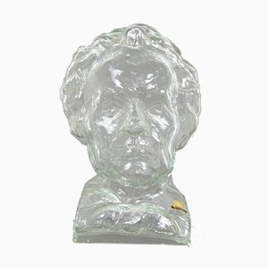 Vintage German Glass Beethoven Head from Ingrid Glass