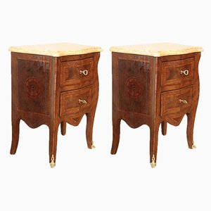 Louis XV Style Bedside Tables, 1920s, Set of 2