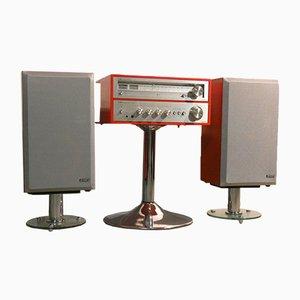 Amplificatore e sintonizzatore HiFi Symphony con mobile e custodia di Onkyo & Jensen, anni '70, set di 6