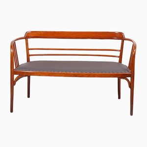 Antique Bentwood Model 5393 Bench from Thonet, 1911