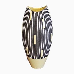 Tall Staufen Decor Fish Mouth Nr. 202/36 Vase by Liesel Spornhauer for Schlossberg Keramik, 1950s