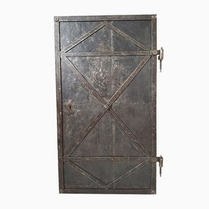 Antique Industrial Iron Door, 18th Century