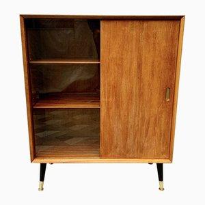 Vintage Teak and Glass Bookshelf