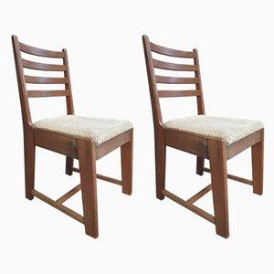Desk Chairs by Bas van Pelt, 1930s, Set of 2