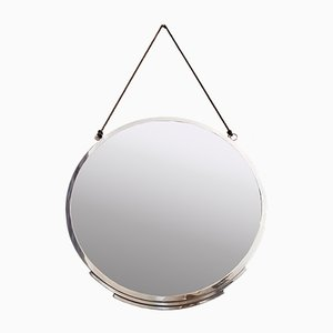 Art Deco Chromed Bronze Mirror, 1930s