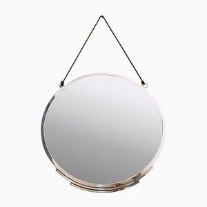 Art Deco Spiegel aus Verchromter Bronze, 1930er
