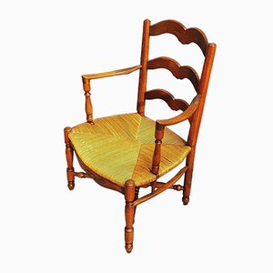 Straw Lounge Chair, 1920s