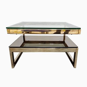 2-Tier 23kt Coffee Table from Belgo Chrom / Dewulf Selection, 1970s