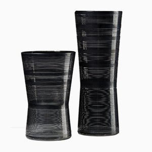 Zwizz Vases by Ingegerd Råman for Orrefors, Sweden, 2000s, Set of 2