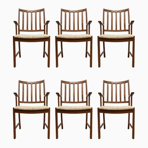 Mid-Century Teak Dining Chairs by Johannes Andersen for Uldum Mobelfabrik, Set of 7