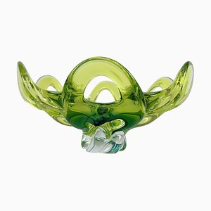 Czech Art Glass Bowl by Josef Hospodka for Chribska Glassworks, 1960s