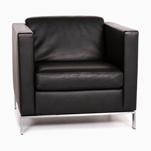 Black Leather Foster 500 Armchair from Walter Knoll