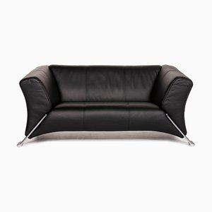 Black Leather 322 2-Seat Sofa from Rolf Benz