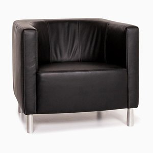 Black Leather Armchair from Willi Schillig