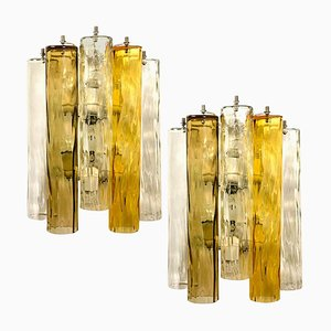 Large Murano Glass Sconces from Barovier & Toso, 1960s, Set of 2