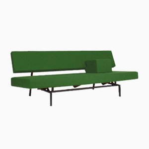 Green Br03 Sofa Bed with Armrest by Martin Visser for 't Spectrum, the Netherlands, 1960s