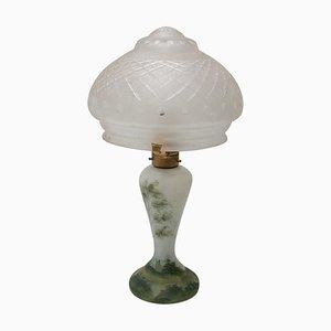 Art Deco Glas Tischlampe, Böhmen, 1930er