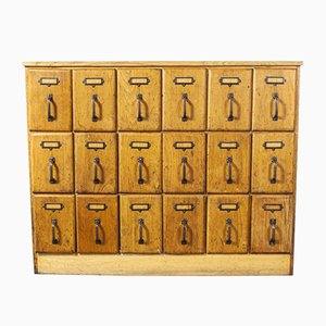 Haberdashery Oak Multi Chest of 18-Drawers, 1950s