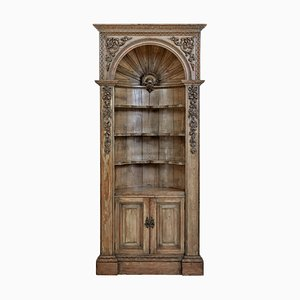 Mid-18th Century Carved Pine Dome Top Fitted Cabinet