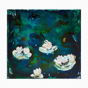 Nympheas Gemälde von Charly Bounan, 2020