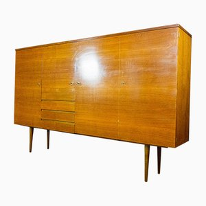 Mid-Century Brown Highboard, 1960s