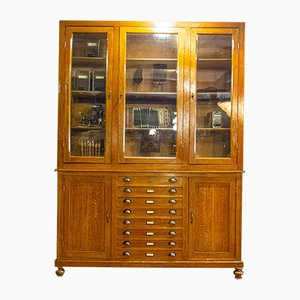 Belgian Cabinet with Drawers and Display Case, 1920s