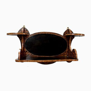 Antique Art Nouveau Blackened Rosewood Shelf, 1900s