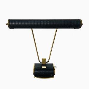 Französische Vintage N71 Schreibtischlampe in Schwarz & Messing von Eileen Gray für Jumo