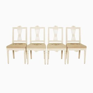 Gustavian Dining Chairs, Set of 4
