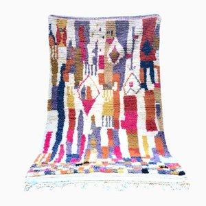 Großer beige Azilal Vintage Berber Teppich