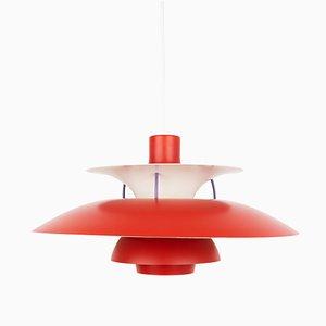Lámpara de techo modelo PH 5 danesa vintage de Poul Henningsen para Louis Poulsen, años 50