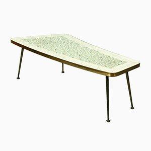 Table Basse Forme Organique Mid-Century en Laiton, 1950s