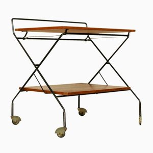 Mid-Century Modern Dutch Teak Tea Trolley, 1960s
