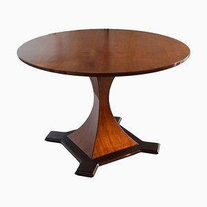 Tavolo da pranzo con ripiano rotondo nello stile di Carlo De Carli, anni '50