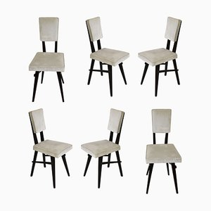 Dining Chairs in the Style of the School of Turin, 1950s, Set of 6