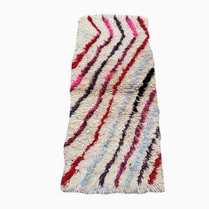Small Vintage Beige Azilal Corridor Berber Carpet