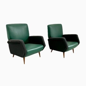 Model 803 Lounge Chairs by Gio Ponti for Cassina, 1954, Set of 2