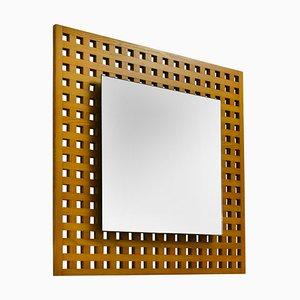 Viereckiger Spiegel von Sant'Ambrogio & De Berti, 1960er