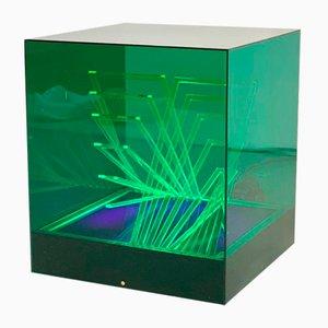Cubo di Teo Tischlampe von James Rivière für Centro Ricerche Arte Industria Lissone, 1960er