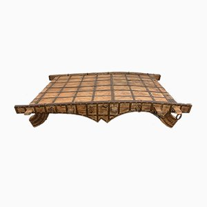Indian Table in Teak and Wrought Iron, 1600s