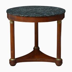 Antiker Französischer Gueridon Tisch aus Mahagoni
