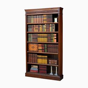 Offenes viktorianisches Bücherregal aus Nussholz