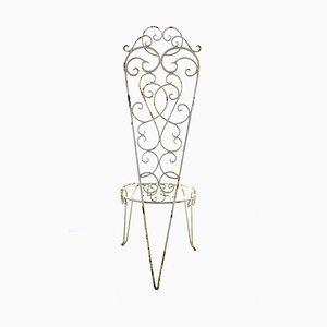 Shabby Chic Stuhl aus Eisen, 1950er
