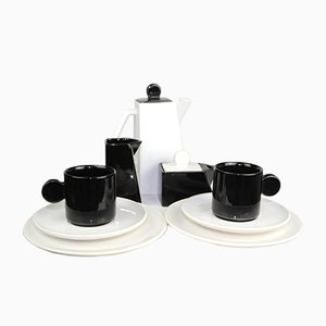 Coffee Service for 2 People, 1980s, Set of 11